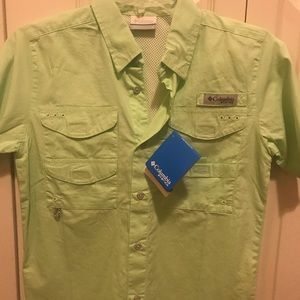 New! Columbia PFG YM button down